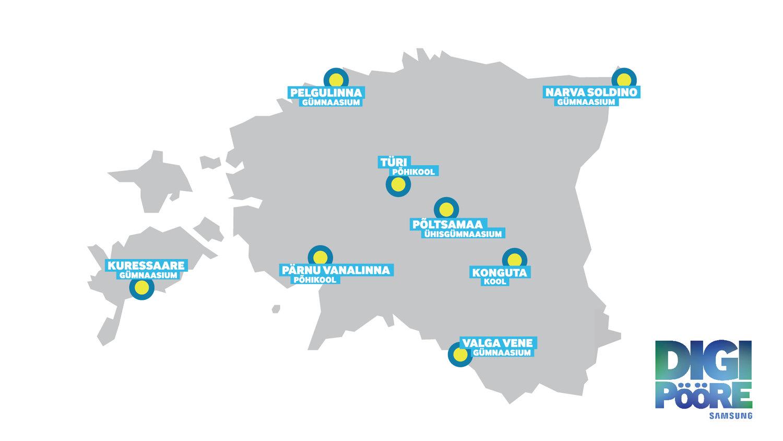 Digipöörde projektis osalevad esialgsed kaheksa kooli