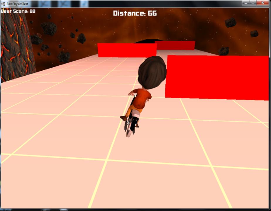 Space Dave'is pidi seintest möödudes suutma balansseerida ka oma suurt pead.