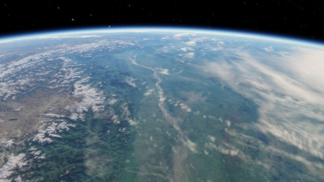 space engine earth